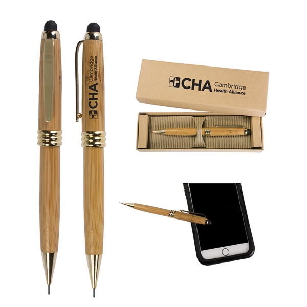 Bamboo Stylus Pencil with Deluxe Recyclable Paper Box