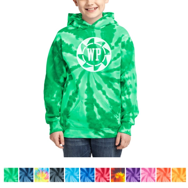 Port & Company Youth Tie-Dye Pullover Hooded Sweatshirt