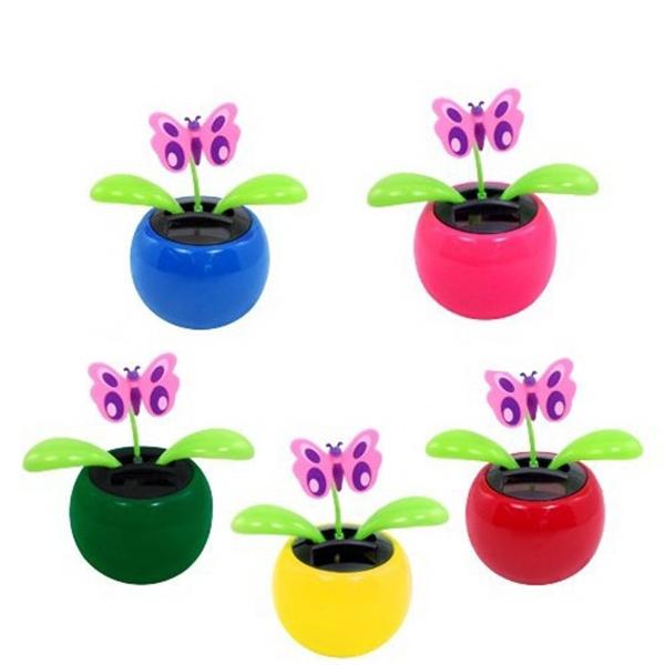 Decorative Swing Solar Flower Toy Plant Bobble