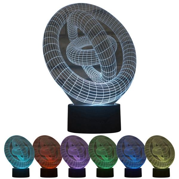 Ring 3D LED Lamp