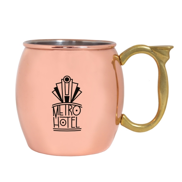 16 OZ CLASSIC COPPER MOSCOW MULE MUG WITH MIRROR FINISH
