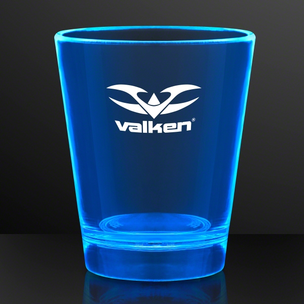 1.5 oz. UV Reactive Blue Glow Shot Glasses