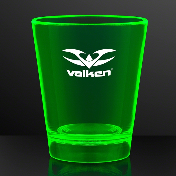 1.5 oz. UV Reactive Green Glow Shot Glasses