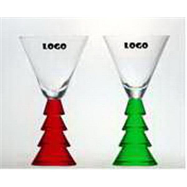5 oz Christmas Tree Stemware