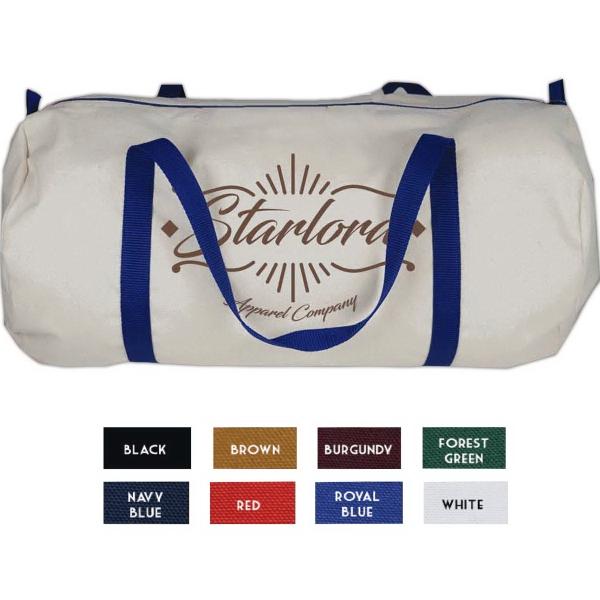10oz Natural Canvas Large Barrel Bag