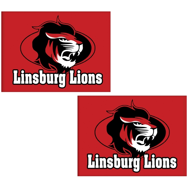 6' x 8' Knit Poly Double Sided School Spirit Flag