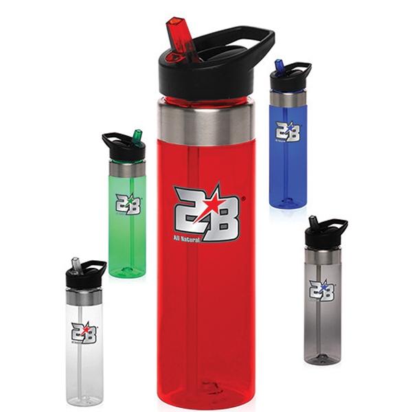 24 oz BPA Free Plastic Sports Bottle