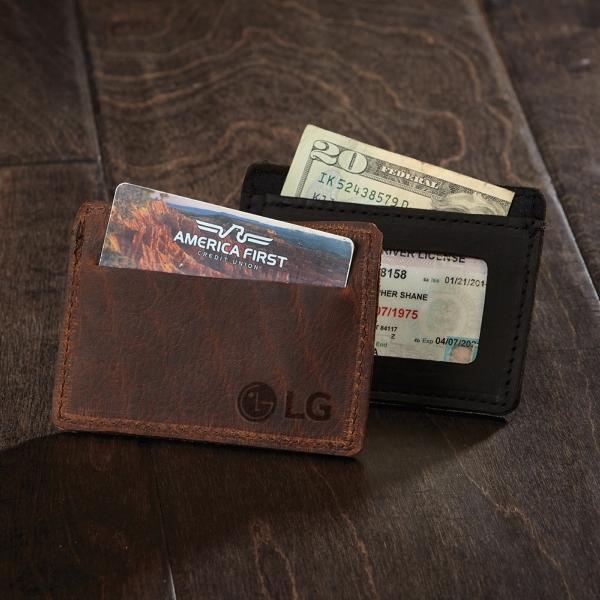 SLATER Leather Single-Pocket Wallet