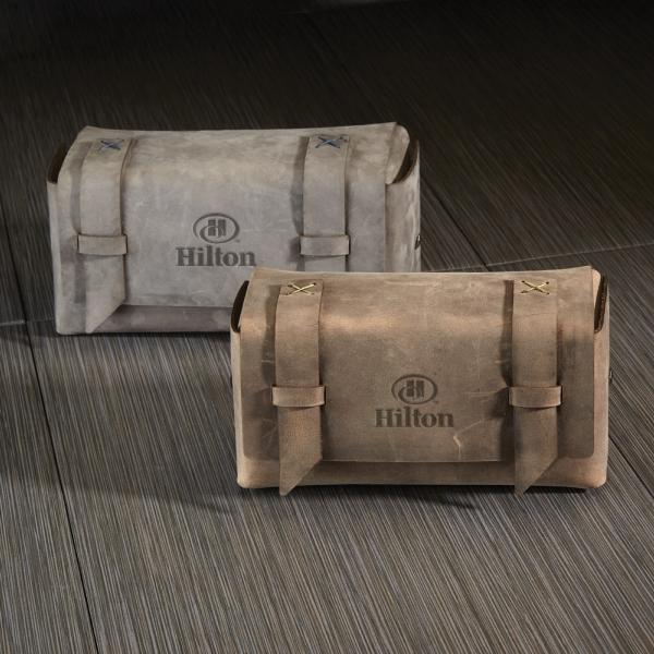 BAXTER Leather Dopp Kit Bag