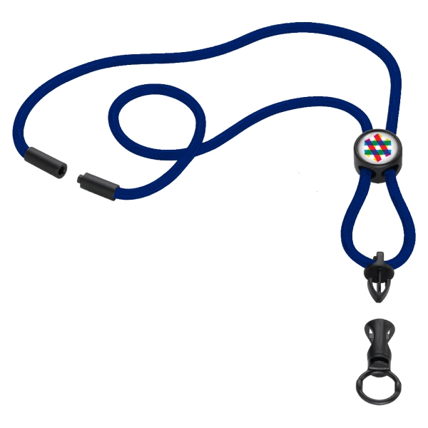 "3/16"" Nylon Power Cord Lanyard w/ Round Slider"