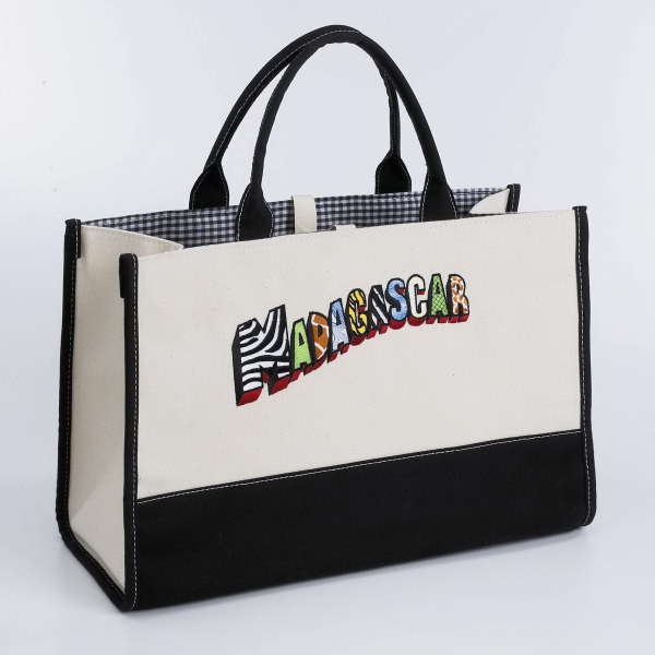 Large Gingham Tote