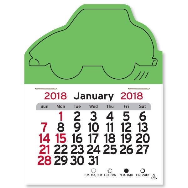 Car Shaped Peel-N-Stick (R) Calendar