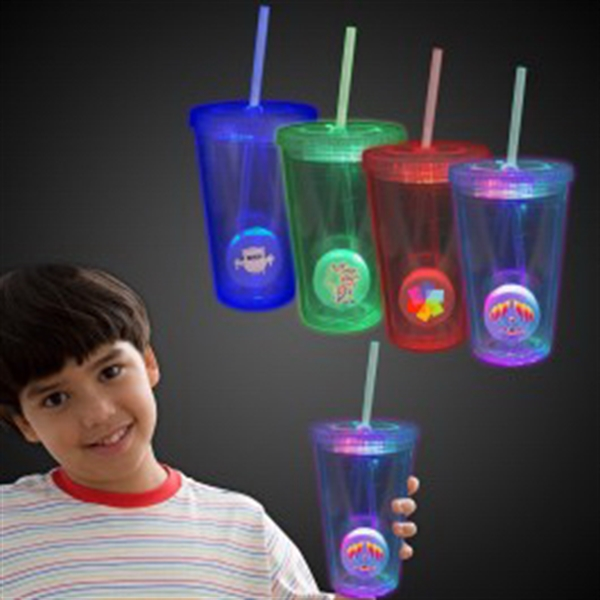 Light Up Travel Cup with Custom Printed Insert