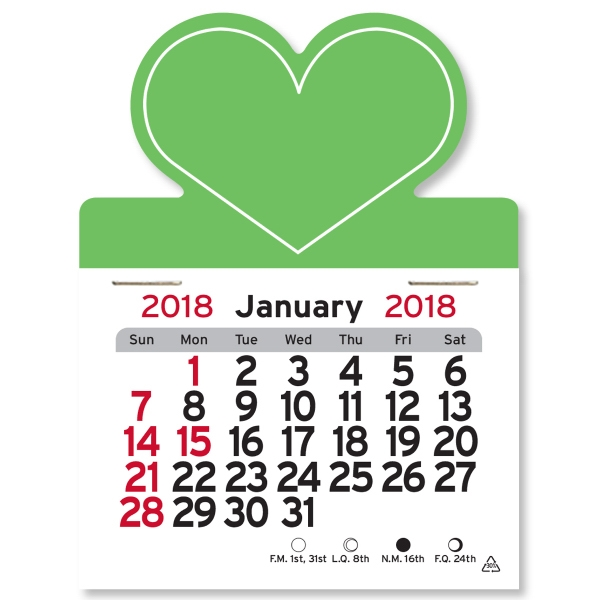 Heart Shaped Peel-N-Stick (R) Calendar