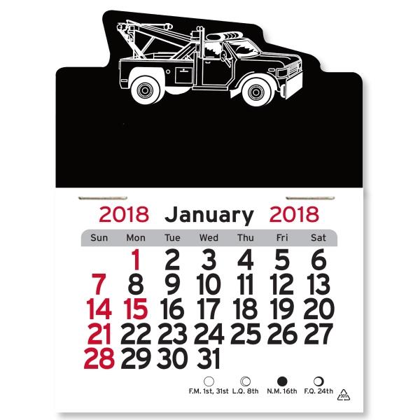 Tow Truck Shaped Peel-N-Stick (R) Calendar
