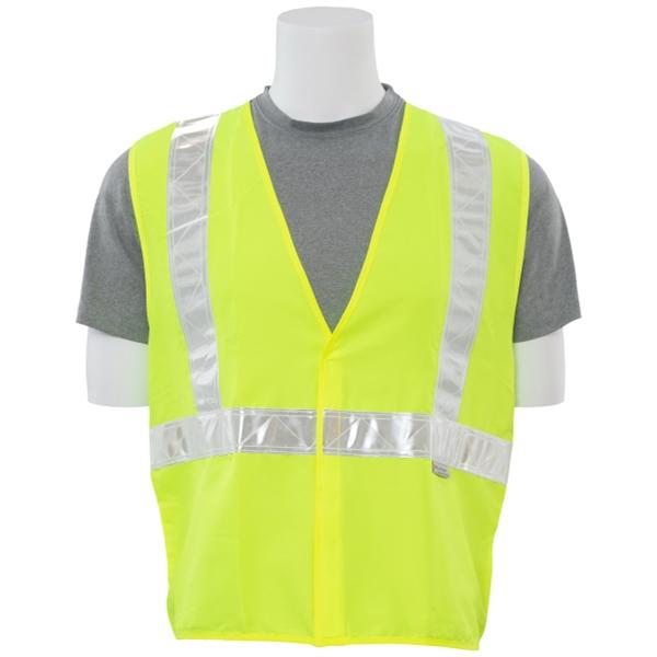 High Gloss Trim Safety Vest Hi-Viz Lime (Class 2)