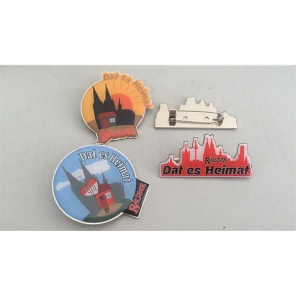 Custom Aluminum Badge Pins