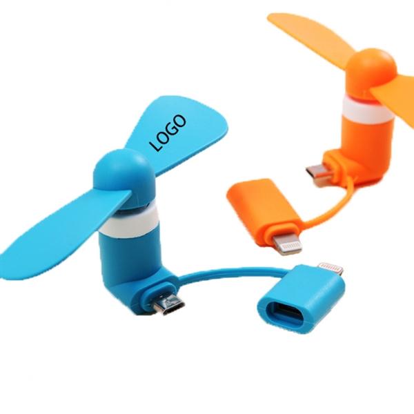 Portable 2 in 1 USB Mini Phone Fan