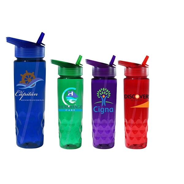 24 oz. Poly-Saver PET Bottle with Straw Cap, Full Color Digi
