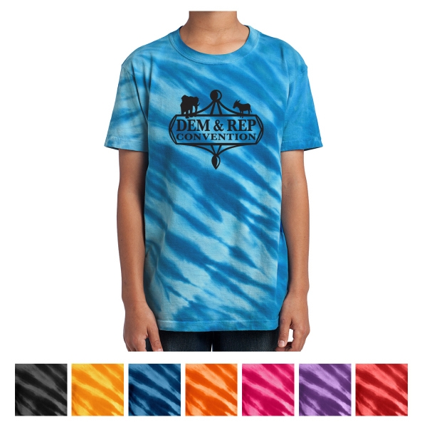 Port & Company Youth Tiger Stripe Tie-Dye Tee