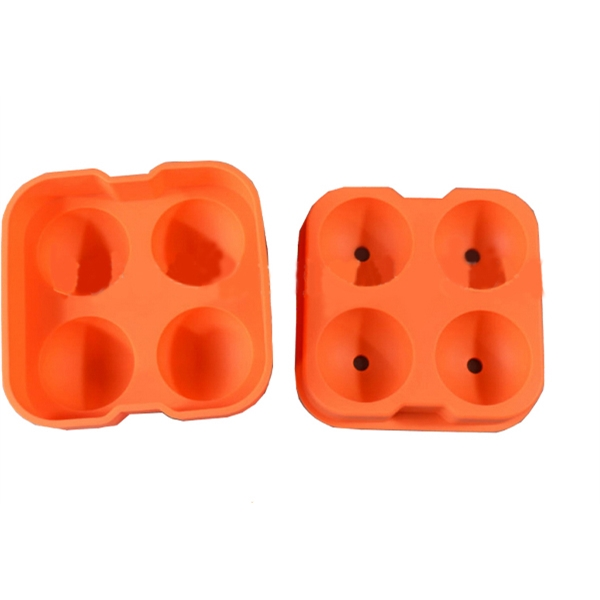 4 holes ball shaped silicone ice model