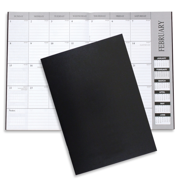 Academic Leatherette Monthly Desk Planner