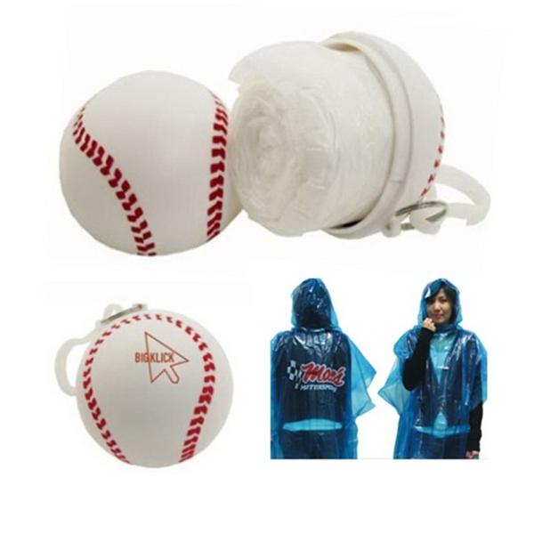 PS Material Baseball Shape Poncho Case