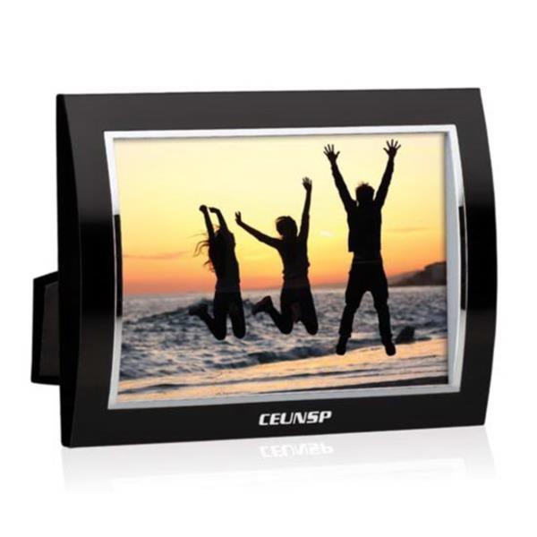 """Curvo Frame - 4""""x6"""" Black/Silver"""