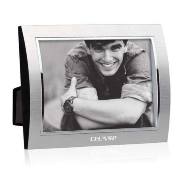 """Curvo Frame - 4""""x6"""" Silver/Silver"""