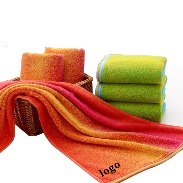 rainbow towel