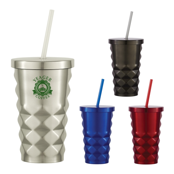 16 Oz. Jagger Diamond Cut Tumbler