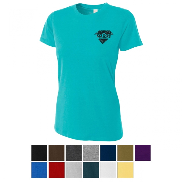 A4 Women's Combed Ringspun Fitted Cotton Tee