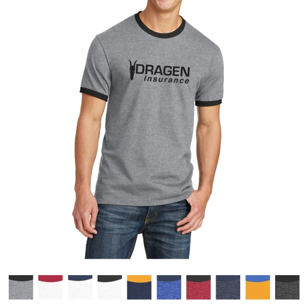 Port & Company Core Cotton Ringer Tee