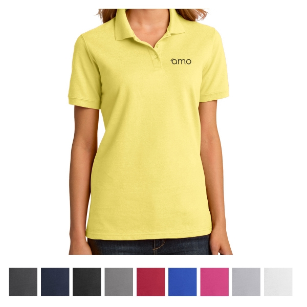 Port & Company Ladies' Ringspun Piqu Polo