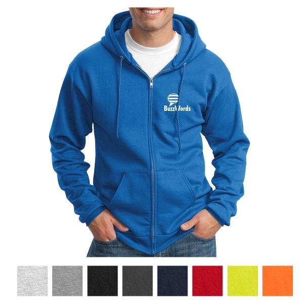 Port & Company Essential Fleece Full-Zip Hooded Sweatshirt