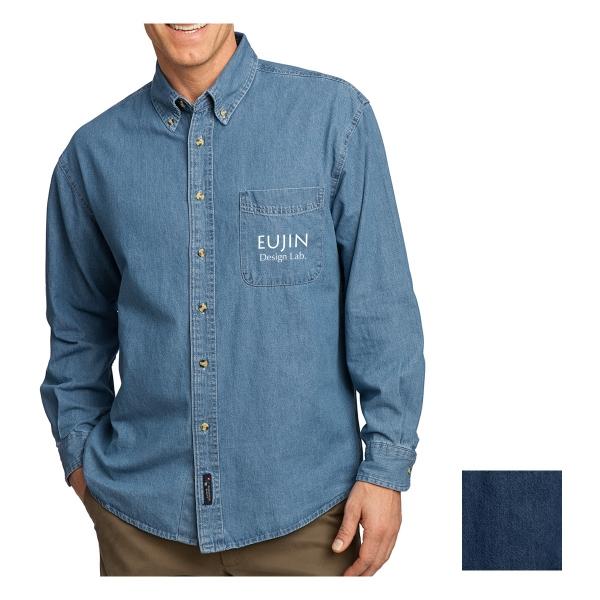 Port & Company Long Sleeve Value Denim Shirt