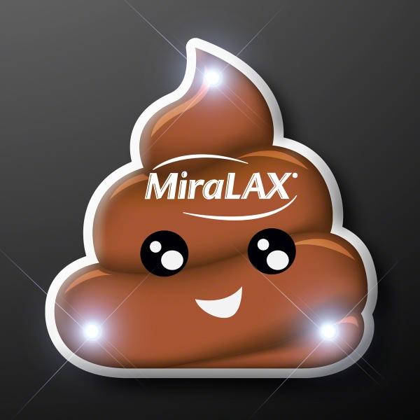 Poop Emoji LED Pins