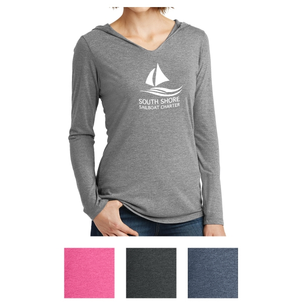 District Made  Ladies' Perfect Tri Long Sleeve Hoodie