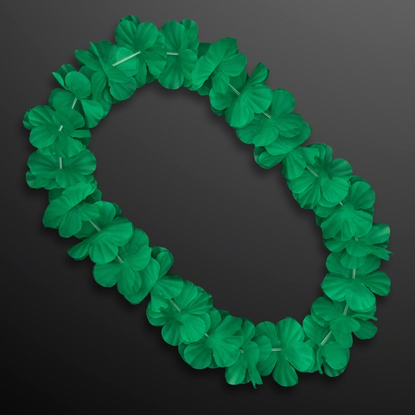 Green Flower Lei Necklace (Non-Light Up)