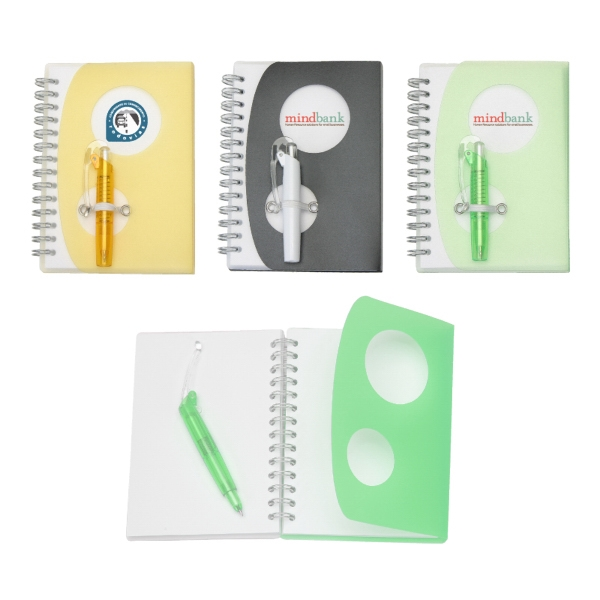 Clearance Item! Soft Case Notepad With Matching Flip Pen Set