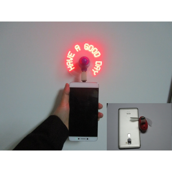 Mobile Phone Flash Fan