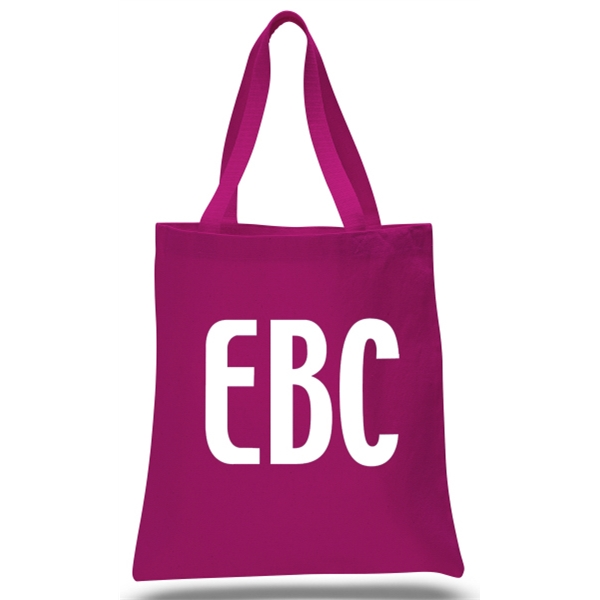 Promo Canvas Tote--Hot Pink--1-Color Imp