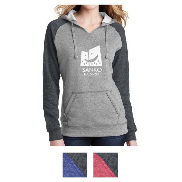 District Juniors' Lightweight Fleece Raglan Hoodie