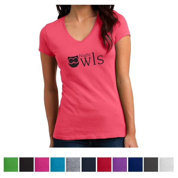 District Juniors' Vintage Wash V-Neck Tee