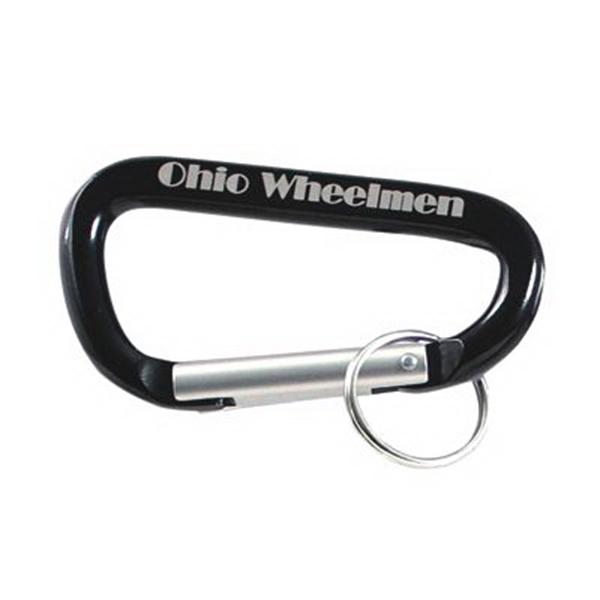 Laser Engraved Black Carabiner key ring