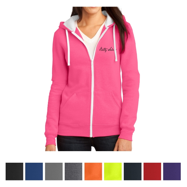 District Juniors' The Concert Fleece Full-Zip Hoodie