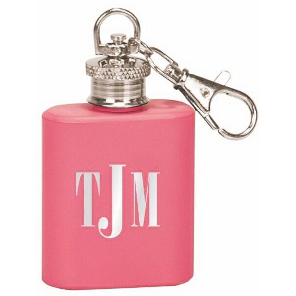 1 Oz. Pink Flask Key Chain