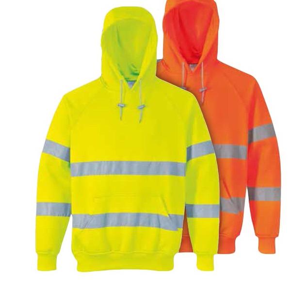 Hi-Vis Hooded Sweatshirt, Class 3