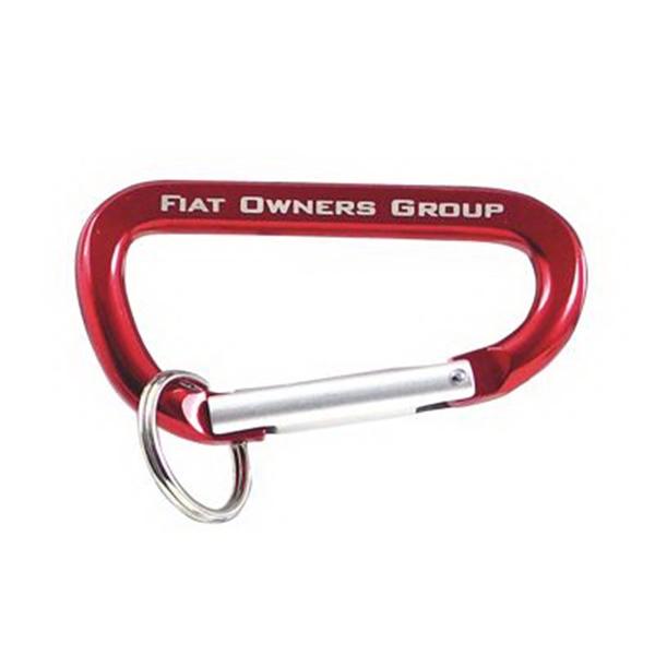Red Carabiner Key Ring