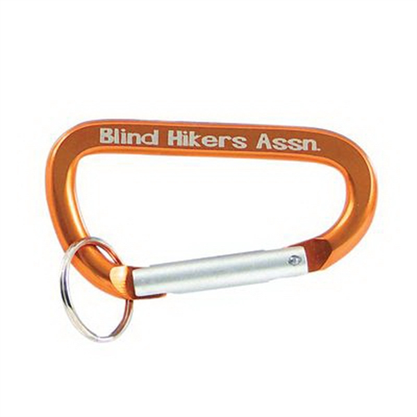 Gold Carabiner Key Ring
